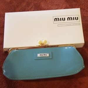 NIB miu miu kiss clutch
